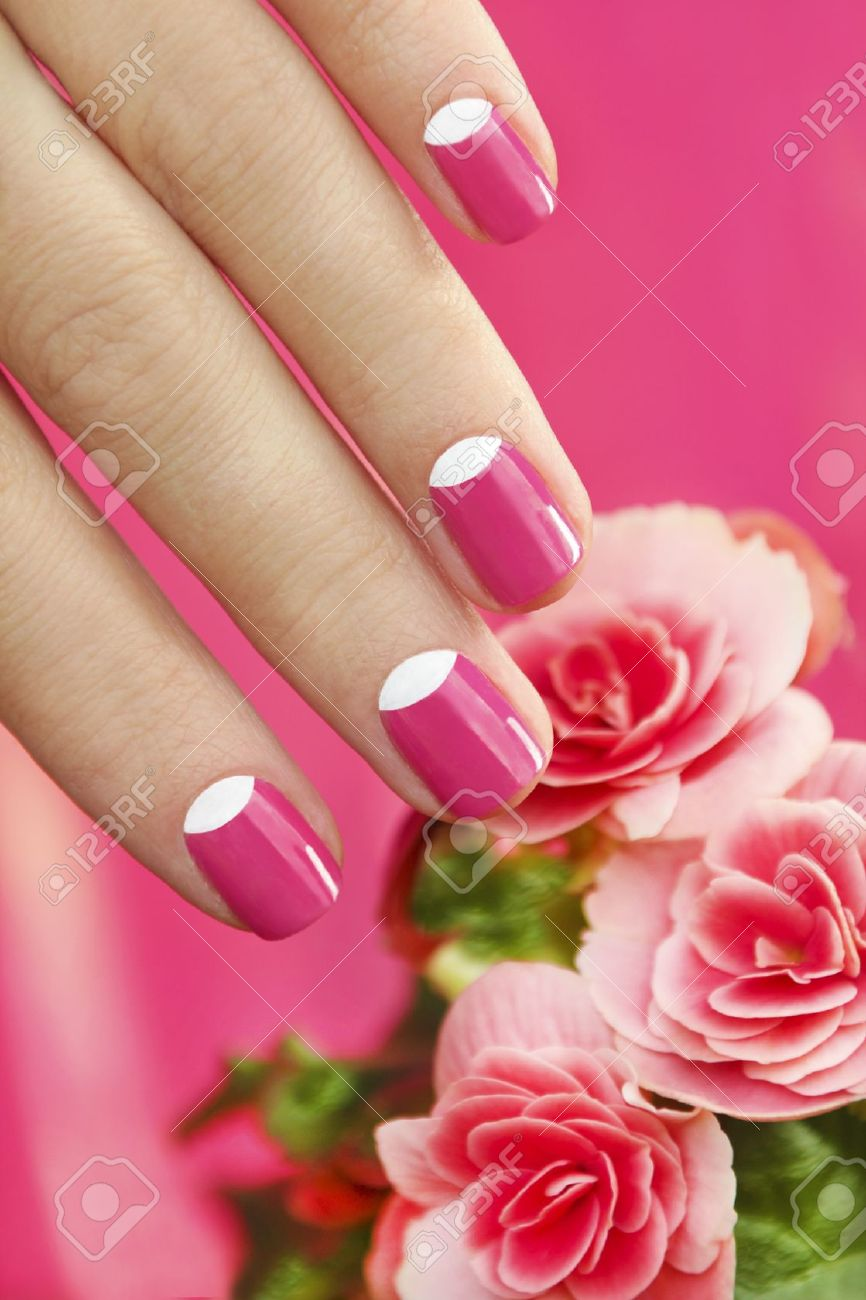 Красивые маникюр с цветами